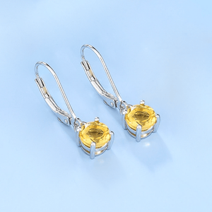 Spirits Unearth Silver Citrine Earrings