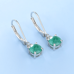 Spirits Unearth Silver Emerald Earrings