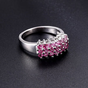 Spirits Unearth Silver Pink Topaz Ring