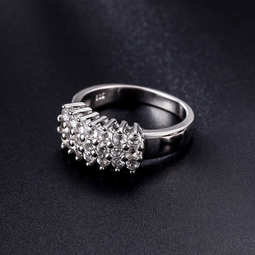 Spirits Unearth Silver White Topaz Ring
