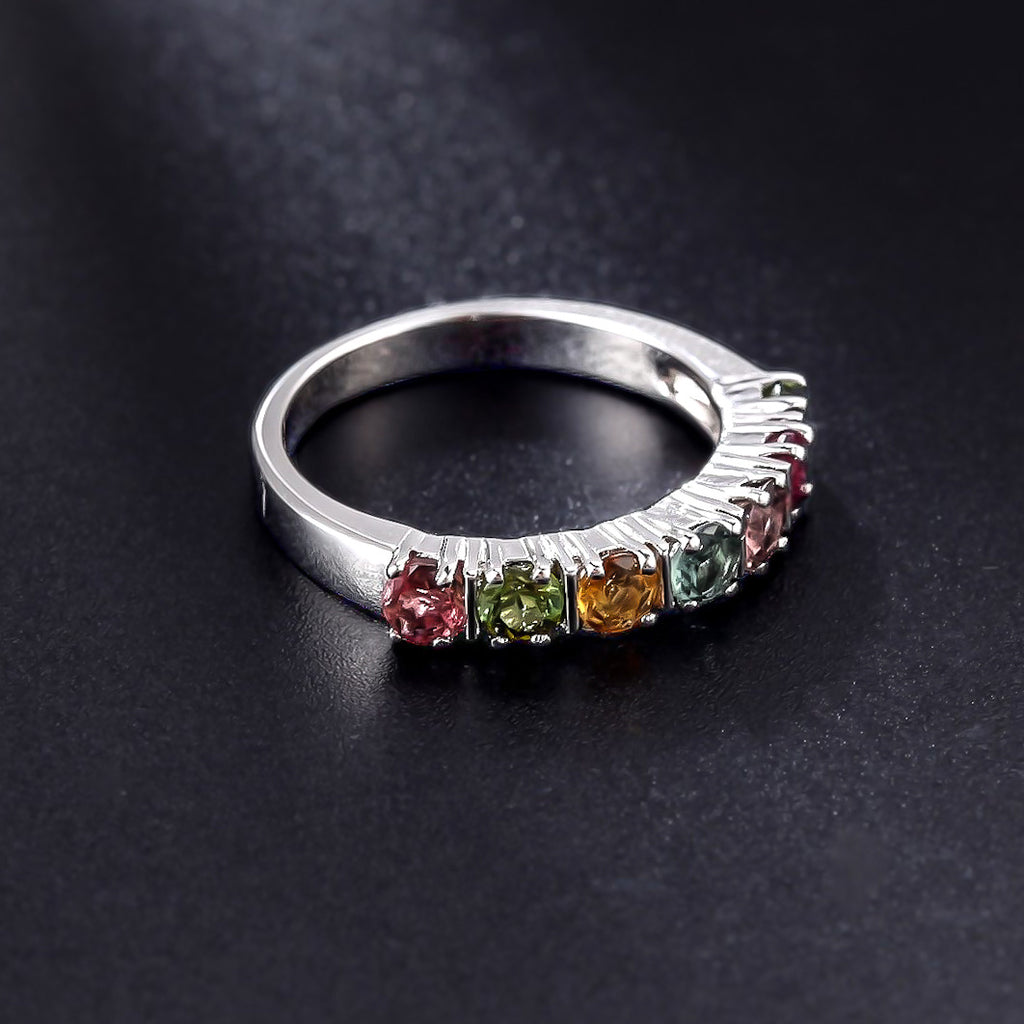 Spirits Unearth Silver Tourmaline Ring