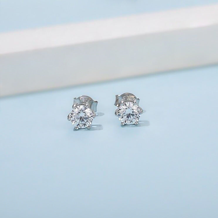 Spirits Unearth Silver Moissanite Diamond Earrings