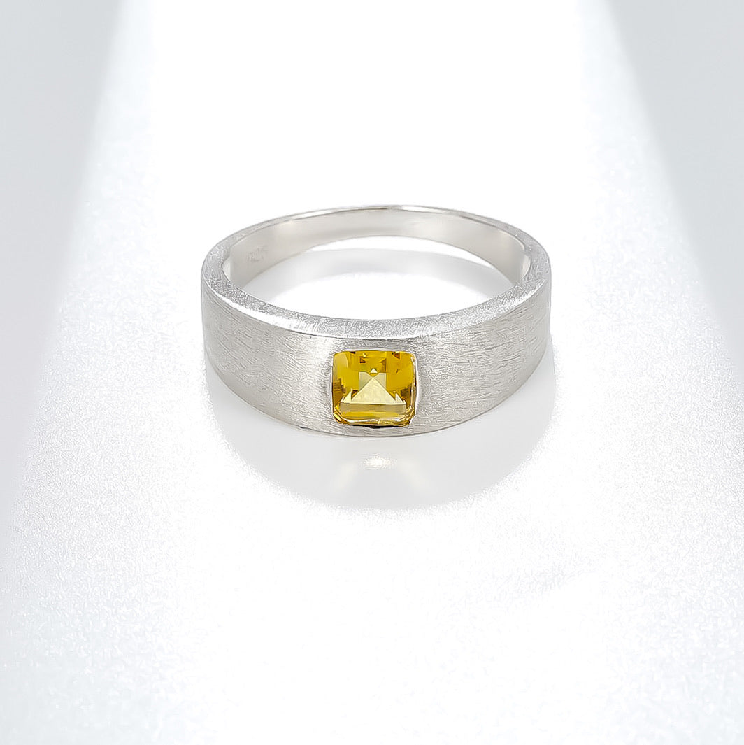 Spirits Unearth Silver Citrine Ring