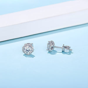 Spirits Unearth Silver Moissanite Diamond and Zirconia Earrings