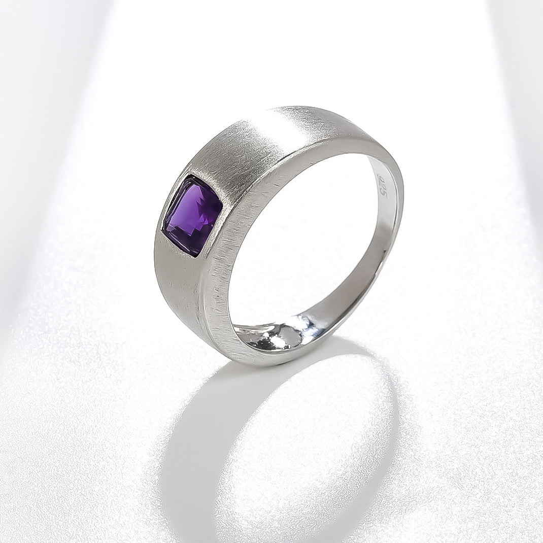 Spirits Unearth Silver Amethyst Ring
