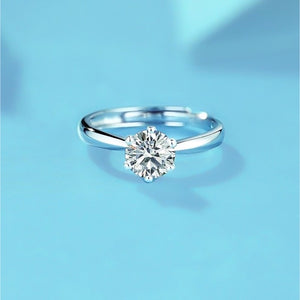 Spirits Unearth Silver Moissanite Diamond Ring