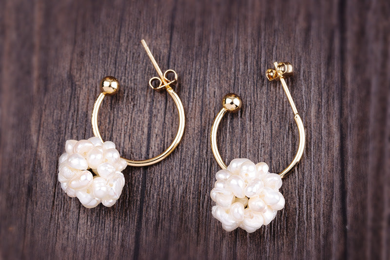 Spirits Unearth 14k Gold South Sea Baroque Pearl Earrings