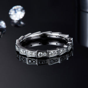 Spirits Unearth Silver Moissanite Diamond Eternity Ring