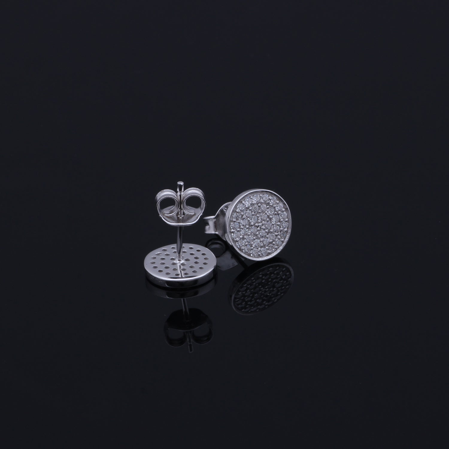 Spirits Unearth Silver Zircon Stud Earrings