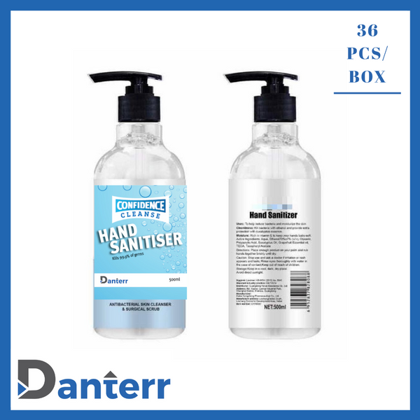 Hand sanitiser 500ml (Alcohol 70% & Chlorhexidine 1.5%) (Box of 36)