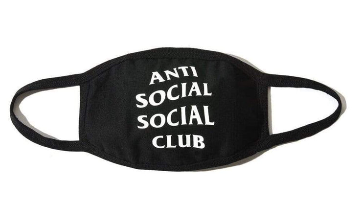 Anti Social Social Club Black Face Mask - HypeMarket