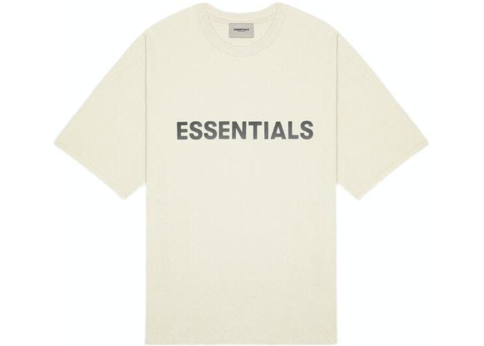 FEAR OF GOD ESSENTIALS 3D Silicon Applique Boxy T-Shirt Buttercream - HypeMarket