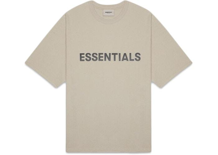 FEAR OF GOD ESSENTIALS 3D Silicon Applique Boxy T-Shirt Olive/Khaki - HypeMarket