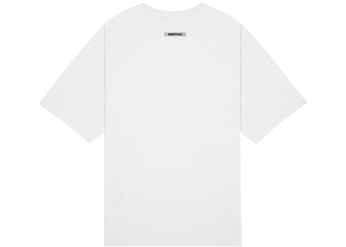 Fear of God Essentials 3D Silicon Applique Boxy T-Shirt White - HypeMarket