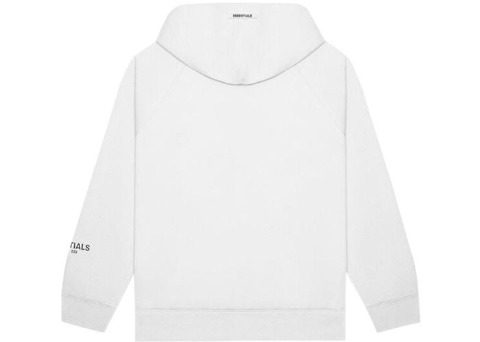 Fear of God Essentials 3D Silicon Applique Pullover Hoodie White - HypeMarket