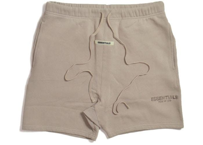 Fear of God Essentials Sweat Shorts Tan - HypeMarket