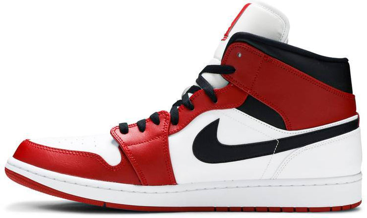 Nike Air Jordan 1 Mid 'Chicago White Heel' - HypeMarket