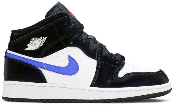Nike Air Jordan 1 Mid GS 'Black Racer Blue' - HypeMarket
