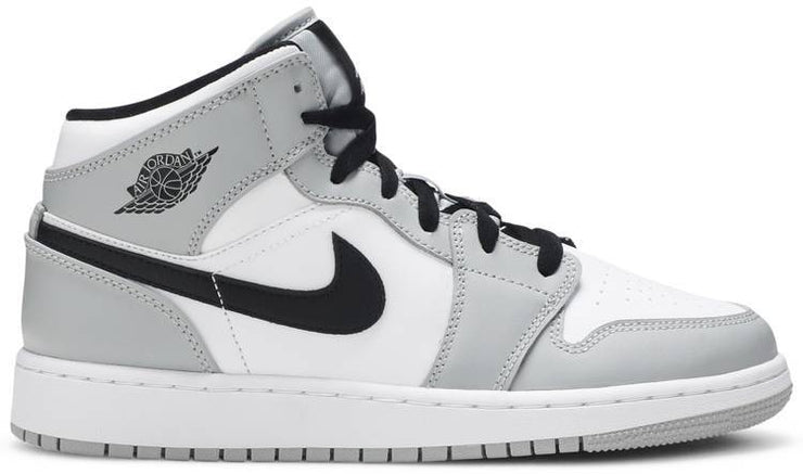 Nike Air Jordan 1 Mid GS 'Light Smoke Grey' - HypeMarket