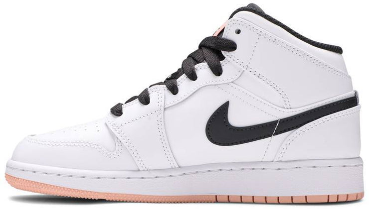 Nike Air Jordan 1 Mid GS 'White Arctic Orange' - HypeMarket