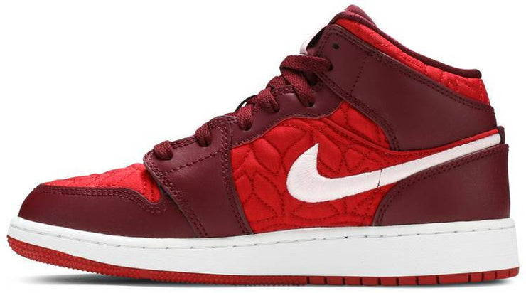 Nike Air Jordan 1 Mid SE GS 'Red Quilt' - HypeMarket