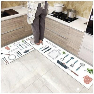 Kitchen printed non-slip carpet