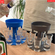 🔥HOT SELLER🔥6 Shot Glass Dispenser and Holder/Carrier Caddy Liquor Dispenser Party Gifts Drinking Games Shot Glasses Get The Party Started Faster!