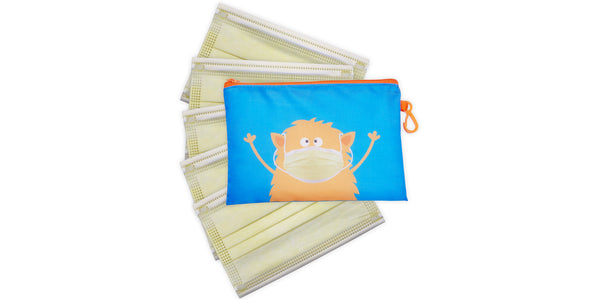 Kid's Masks & Storage Pouch - Monster