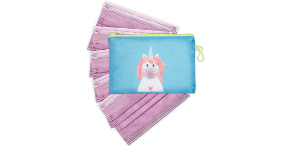 Kid's Masks & Storage Pouch - Unicorn
