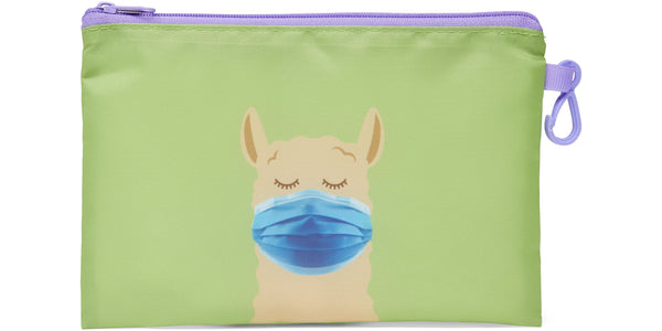 Kid's Masks & Storage Pouch - Llama - Llama (blue masks) -