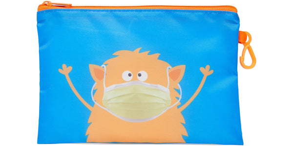 Kid's Masks & Storage Pouch - Monster - Monster (yellow