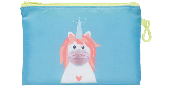 Kid's Masks & Storage Pouch - Unicorn - Unicorn (pink masks)