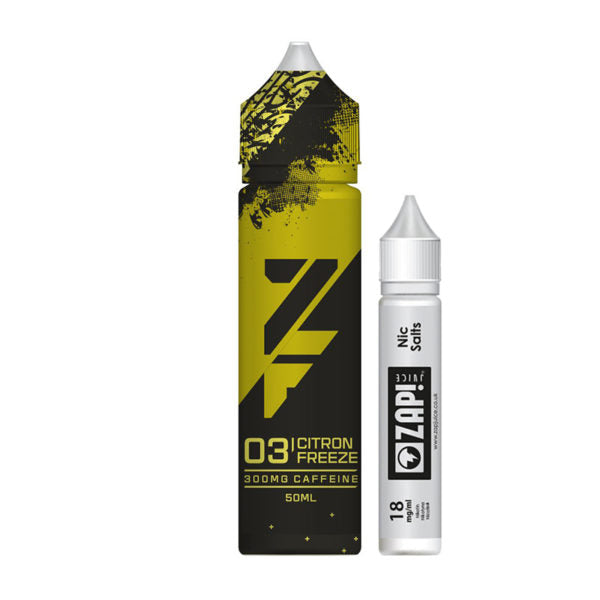 Zap - ZFuel - 03 Citron Freeze - 50ml 300mg Caffeine Shortfill