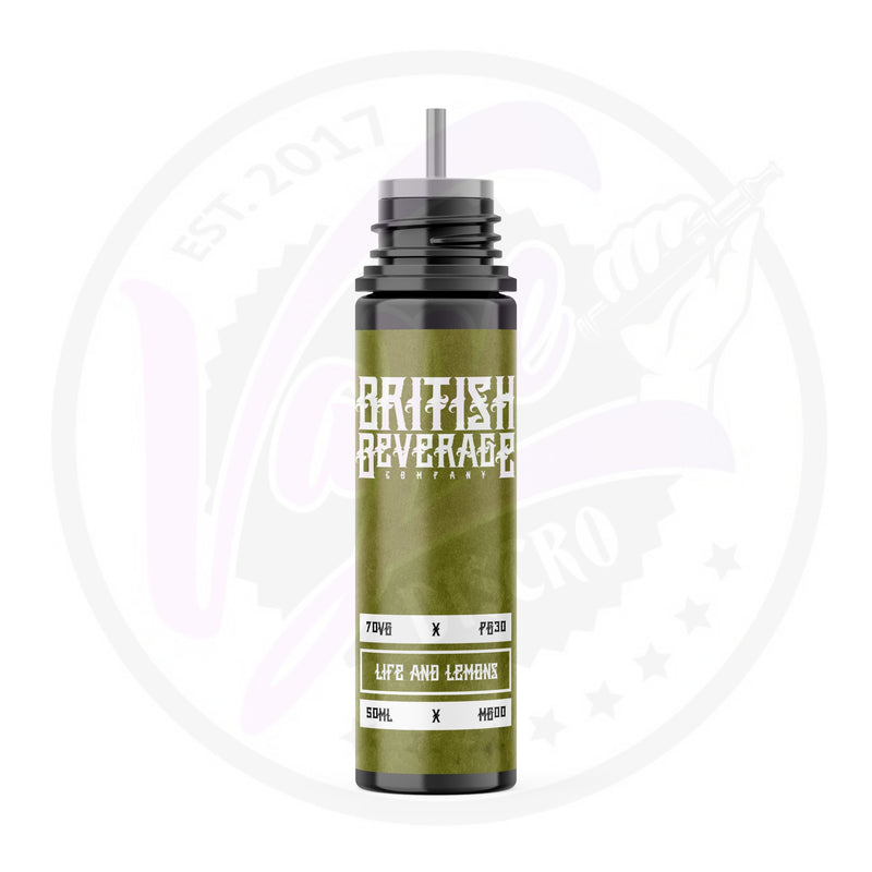 British Beverage - Life & Lemons - 50ml Shortfill