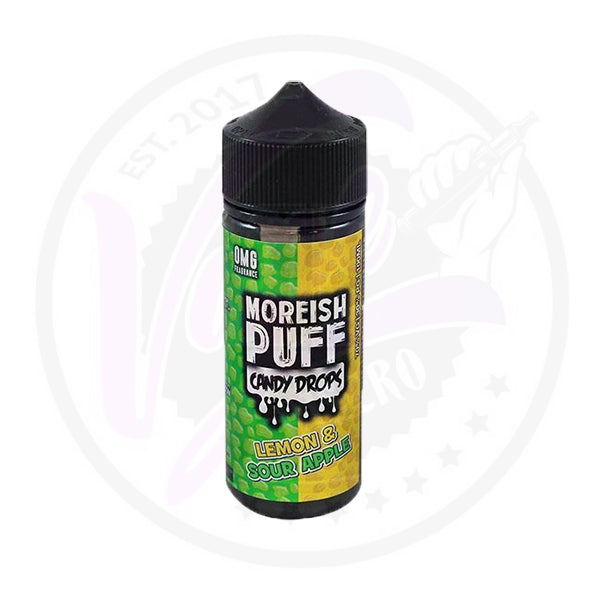 Moreish Puff Candy Drops - Lemon & Sour Apple - 100ml Shortfill