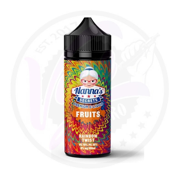 Nanna's Secrets Fruits - Rainbow Twist - 100ml Shortfill