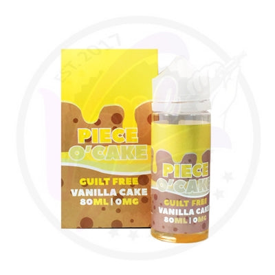 Piece O' Cake - Vanilla Cake - 80ml Shortfill
