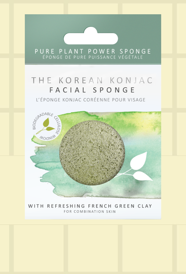 Konjac Large Facial Sponge - Green Clay