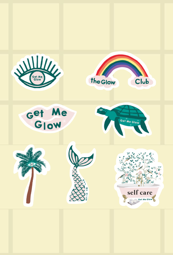 Get Me Glow Personalized Sticker Sheets