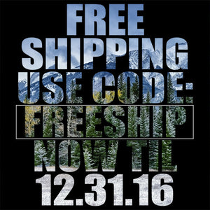 FREE SHIPPING!! Now through 12.31.16