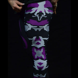 Purple Camo Ladies Tights - NS No Surrender  - 2