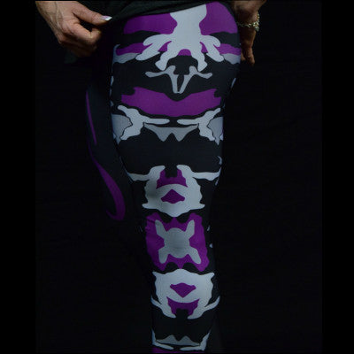 Purple Camo Ladies Tights - NS No Surrender  - 1