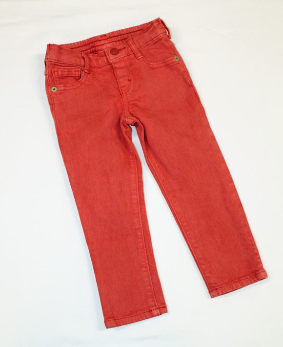 burnt orange jeans size 2