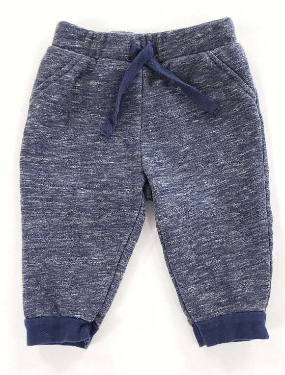 Heathered Blue Joggers size 6-12m