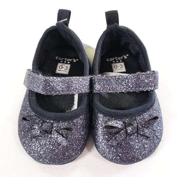 Blue Sparkle Shoes size 0-3m