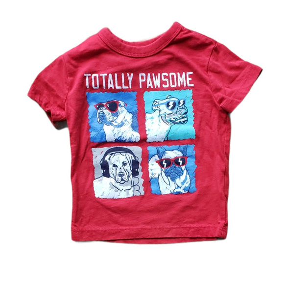 Totally Pawsome Tee size 6-12m