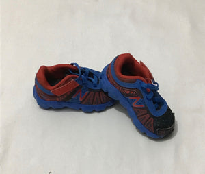 Blue and red sneakers size 4.