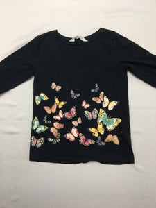 Butterflies long sleeve. Size 4-6