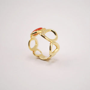 Anello Design Giallo