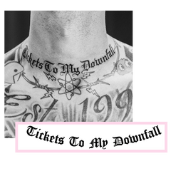 Shhh Tee + Tattoo + Tickets To My Downfall  CD or Cassette (Pre Order)